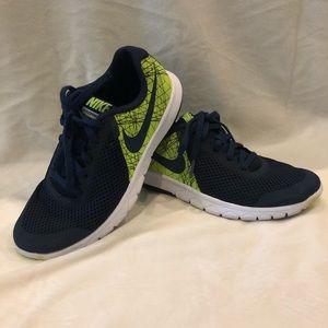 Nike Sneakers Big Boy Blue Neon Green Sz 4